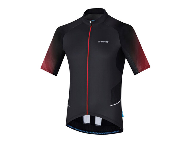 Shimano Mirror Cool - Maillot manches courtes Homme - rouge/noir